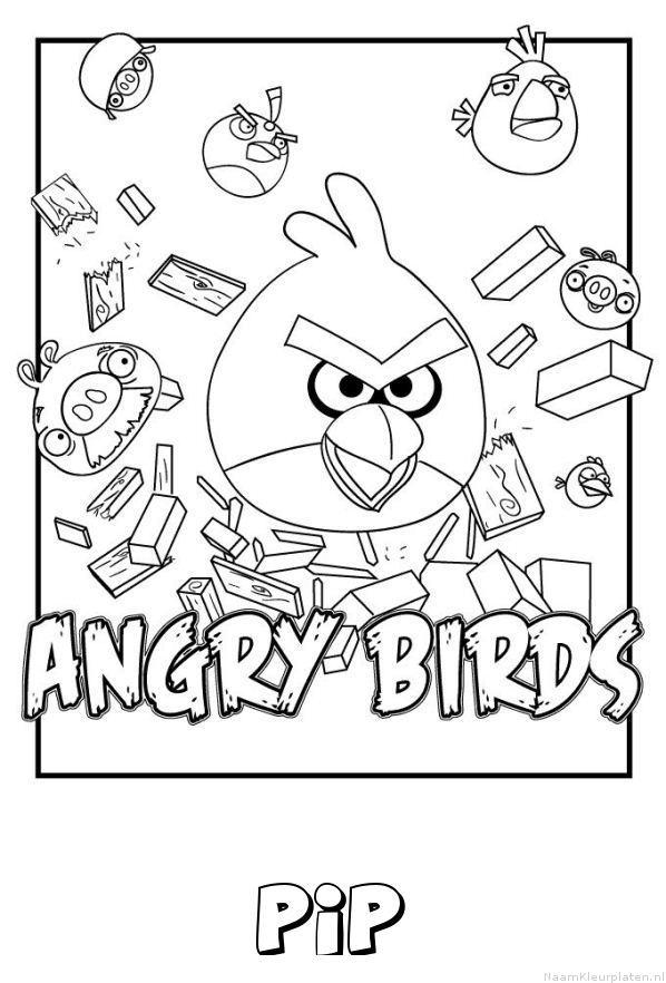 Pip angry birds kleurplaat
