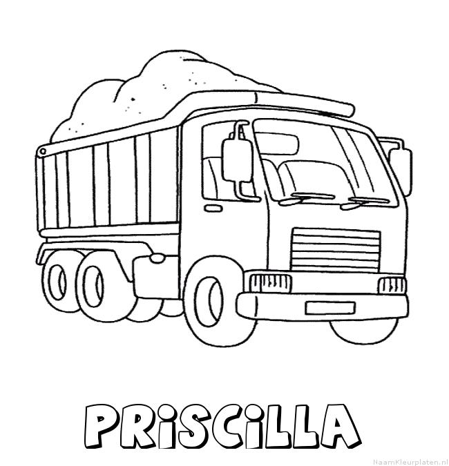 Priscilla vrachtwagen kleurplaat