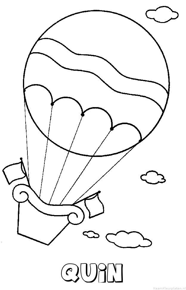 Quin luchtballon kleurplaat