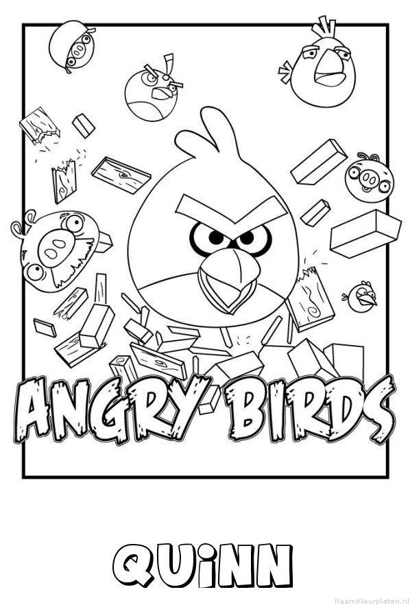 Quinn angry birds kleurplaat