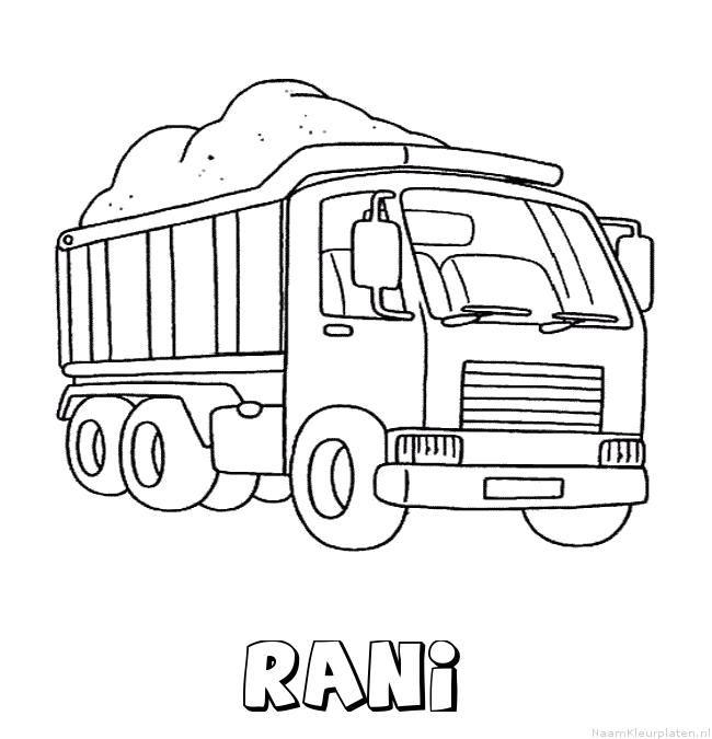 Rani vrachtwagen kleurplaat