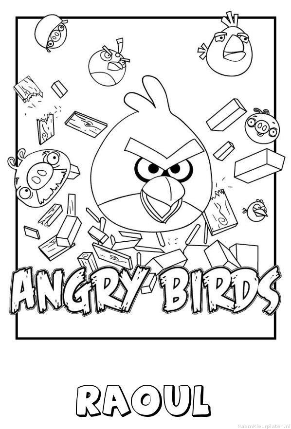 Raoul angry birds kleurplaat