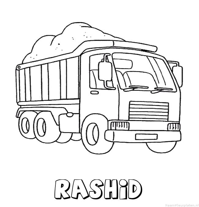 Rashid vrachtwagen kleurplaat