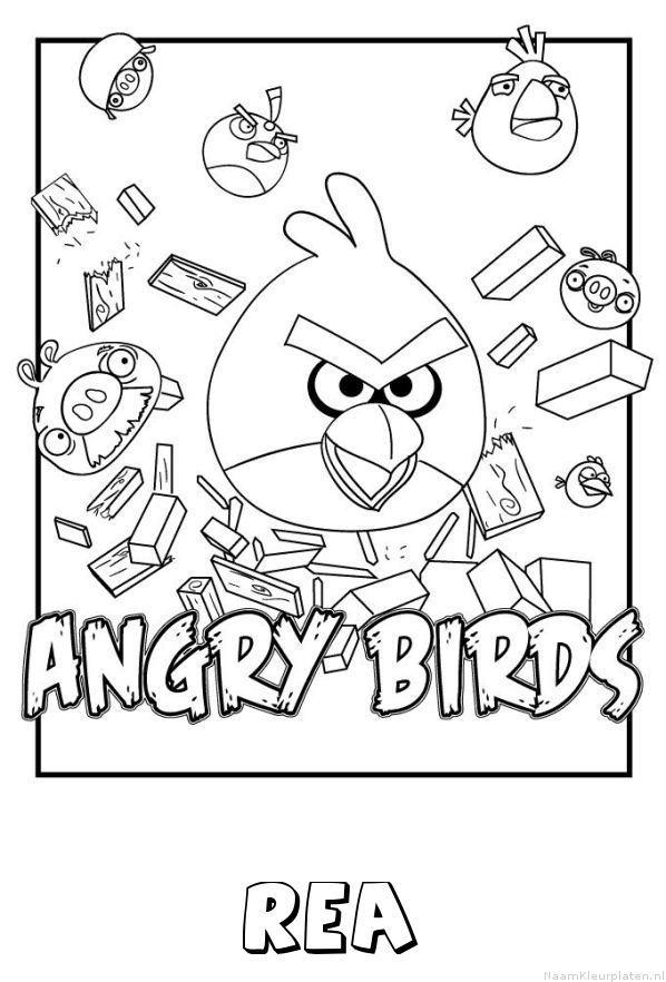 Rea angry birds kleurplaat