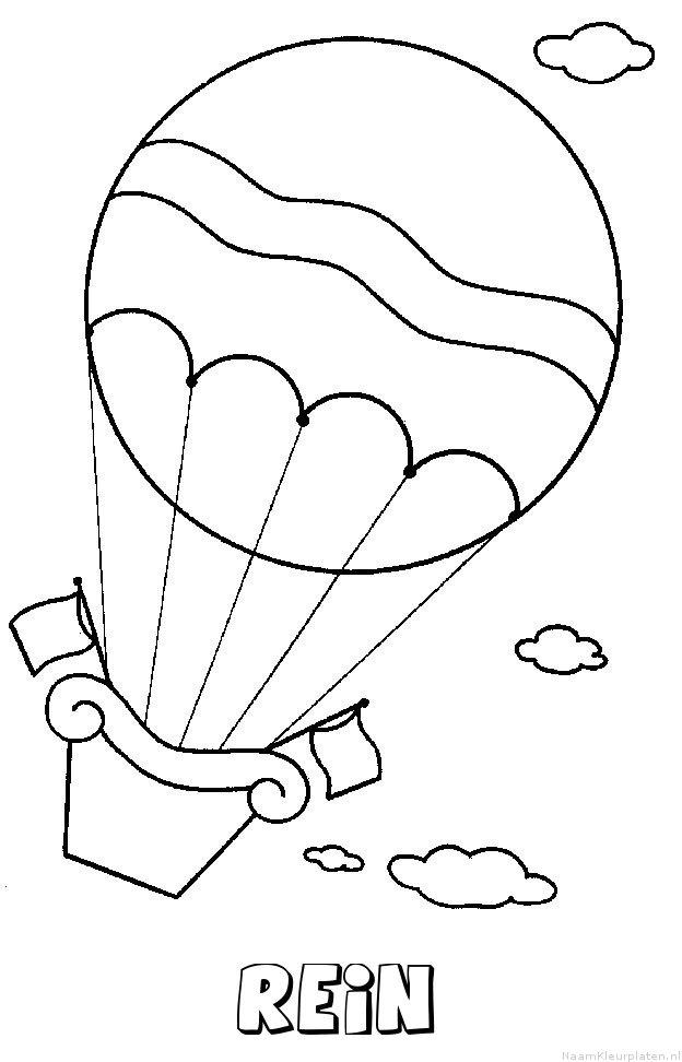 Rein luchtballon kleurplaat
