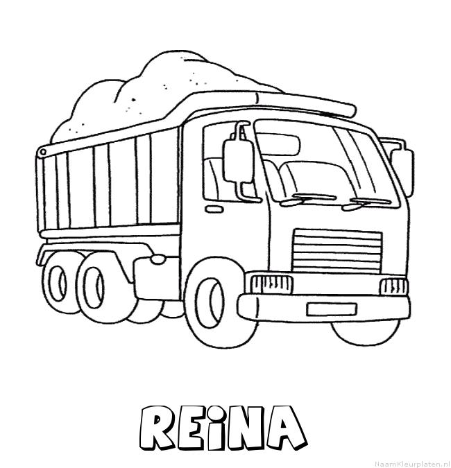 Reina vrachtwagen kleurplaat