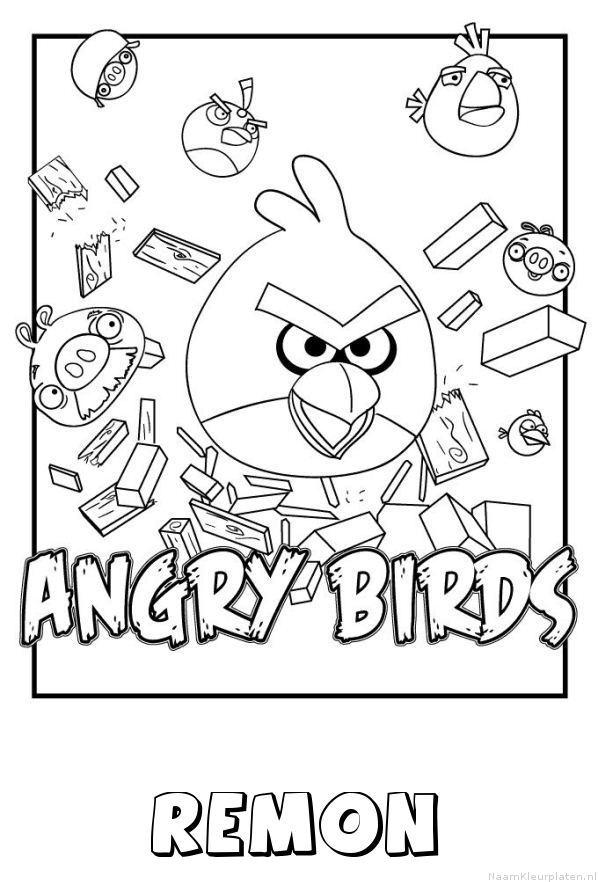 Remon angry birds kleurplaat