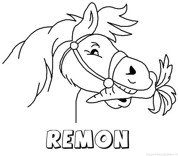 Remon paard van sinterklaas kleurplaat