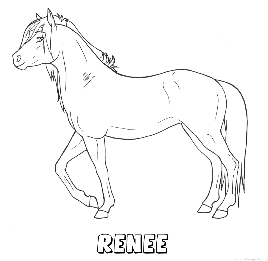 Renee paard kleurplaat