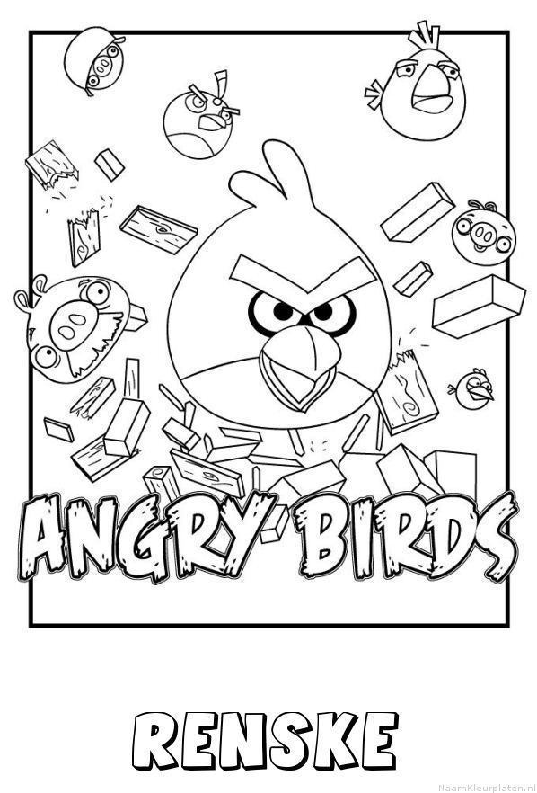 Renske angry birds kleurplaat