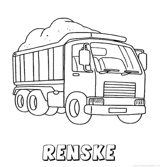 Renske vrachtwagen kleurplaat