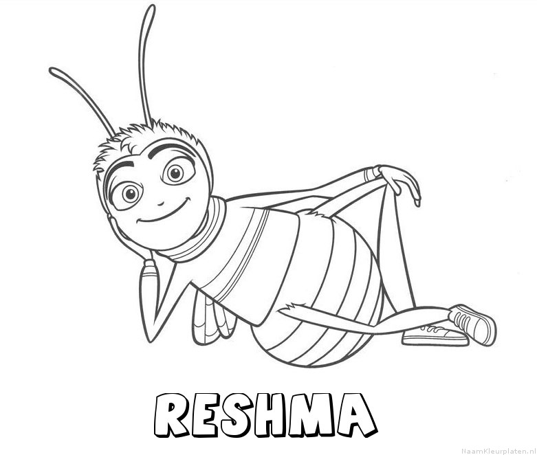 Reshma bee movie kleurplaat
