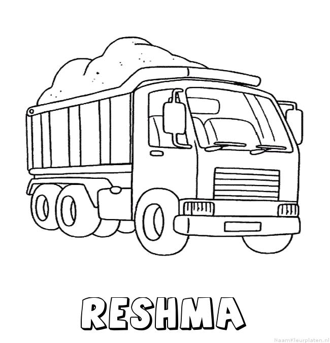 Reshma vrachtwagen kleurplaat