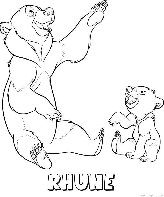 Rhune brother bear kleurplaat