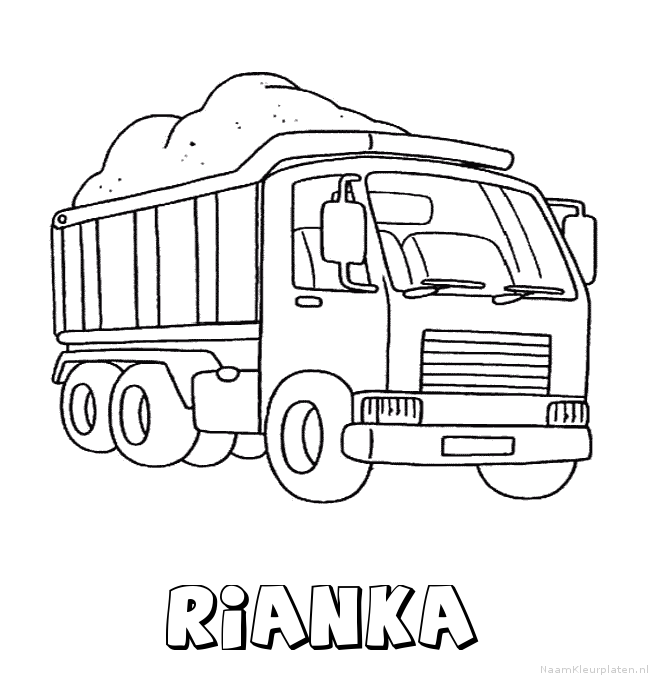 Rianka vrachtwagen kleurplaat