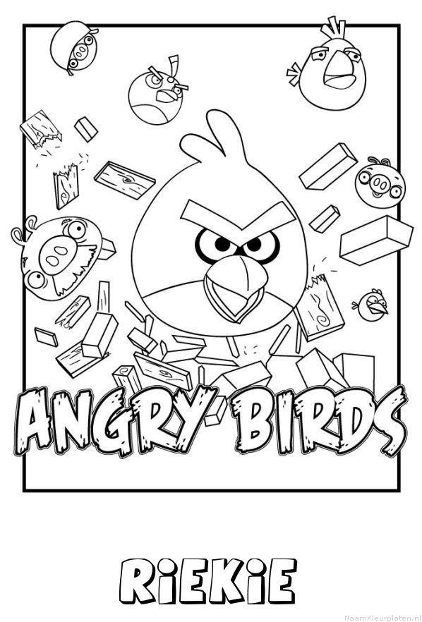 Riekie angry birds kleurplaat