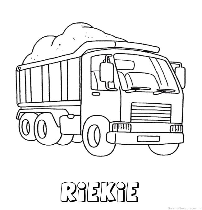 Riekie vrachtwagen kleurplaat