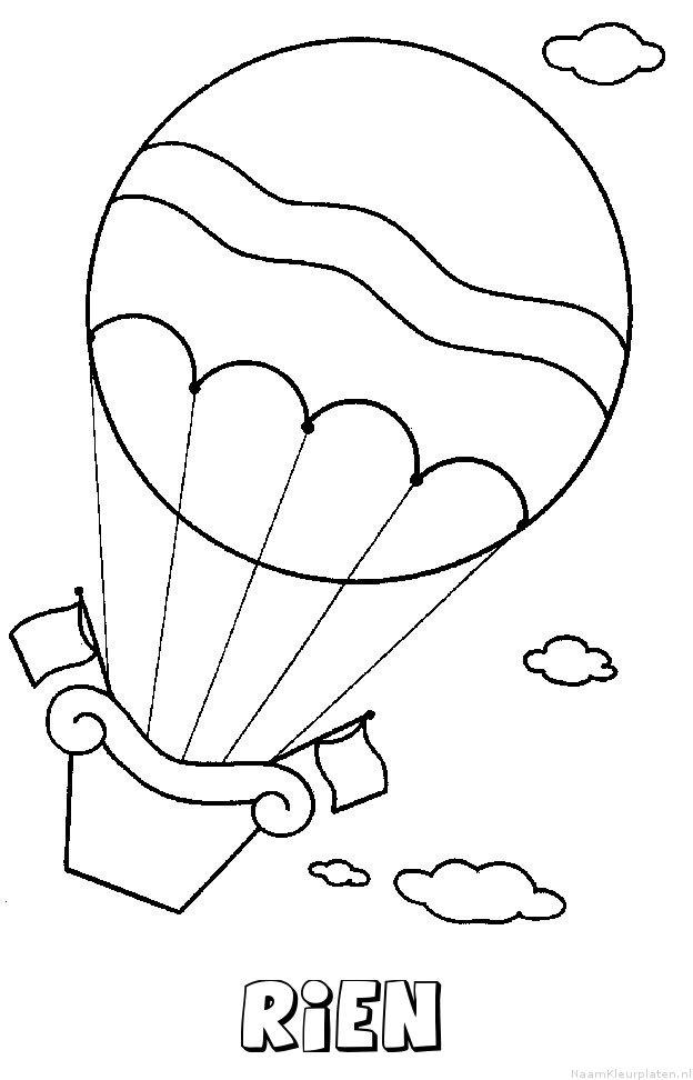 Rien luchtballon kleurplaat