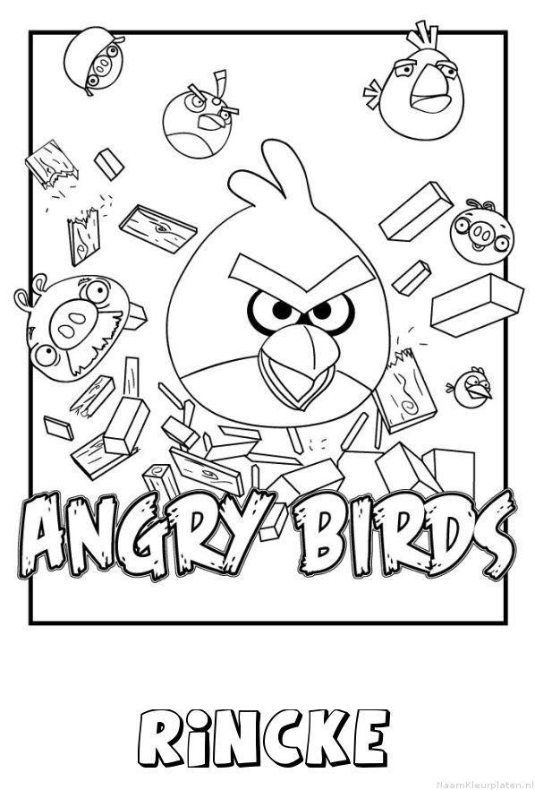 Rincke angry birds kleurplaat