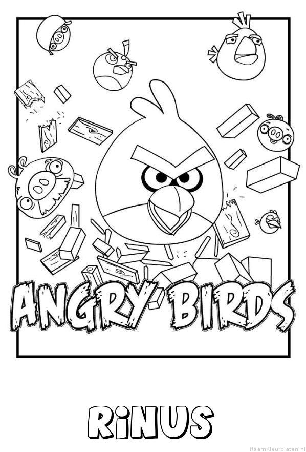 Rinus angry birds kleurplaat