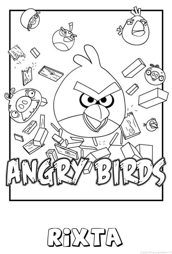 Rixta angry birds kleurplaat