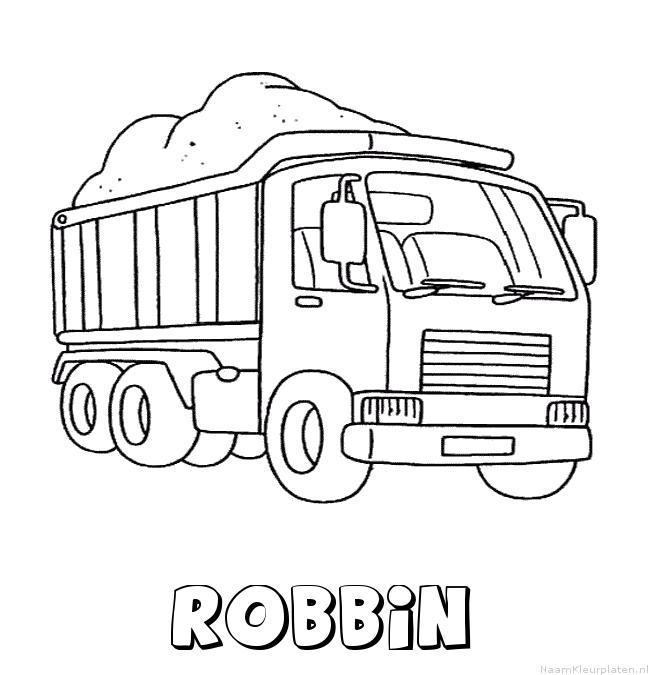 Robbin vrachtwagen kleurplaat
