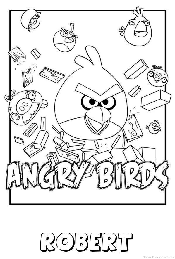 Robert angry birds kleurplaat
