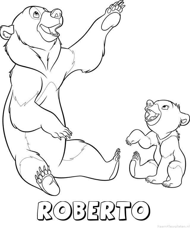 Roberto brother bear kleurplaat