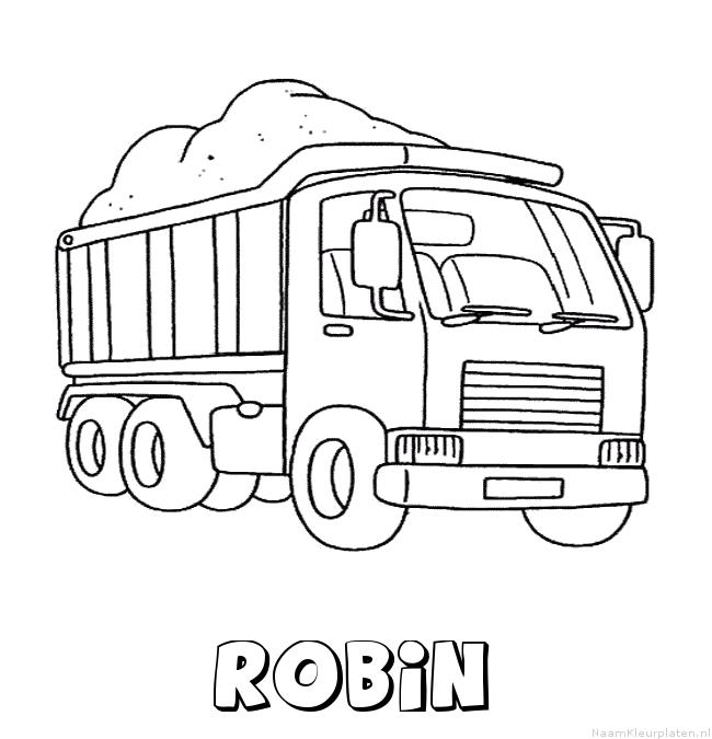 Robin vrachtwagen kleurplaat