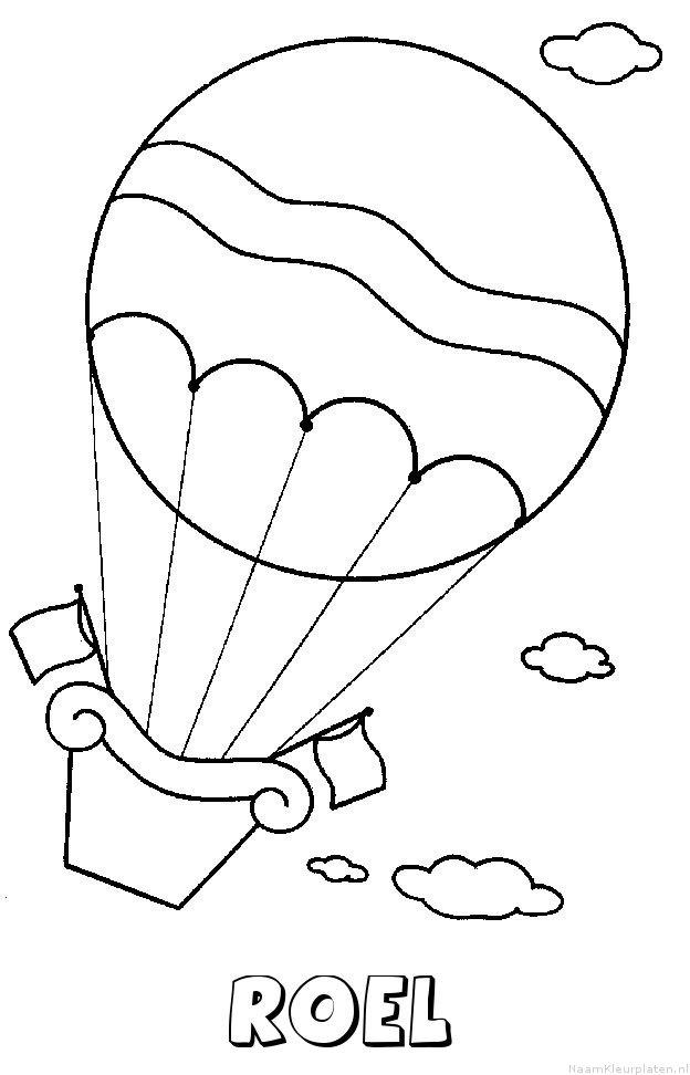Roel luchtballon kleurplaat