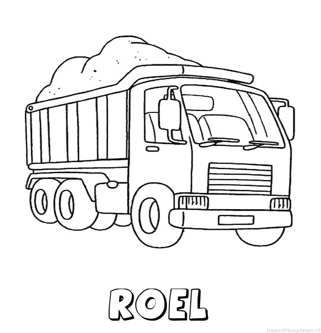 Roel vrachtwagen kleurplaat