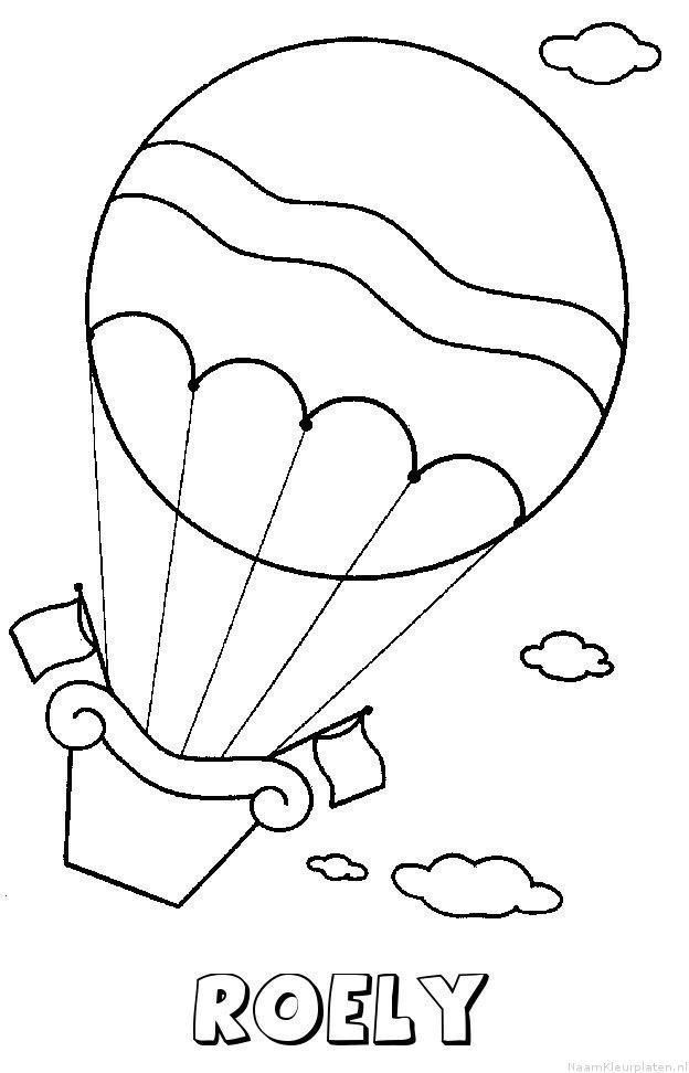 Roely luchtballon kleurplaat