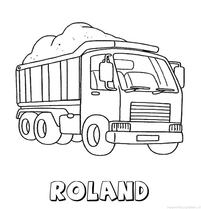 Roland vrachtwagen kleurplaat