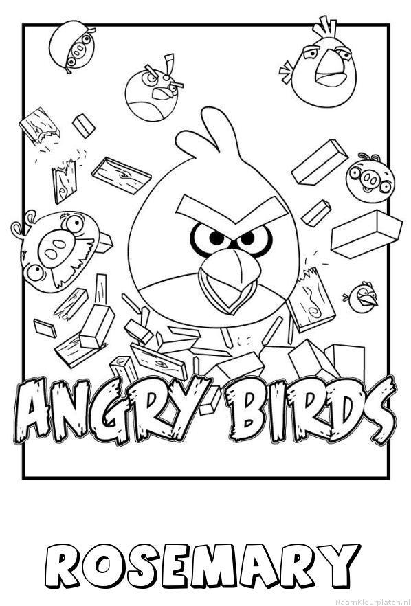 Rosemary angry birds kleurplaat