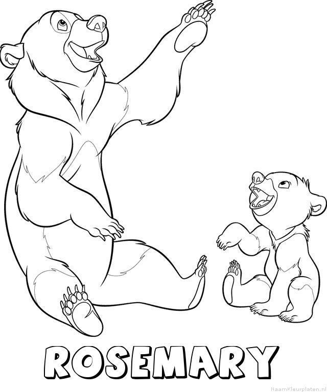 Rosemary brother bear kleurplaat