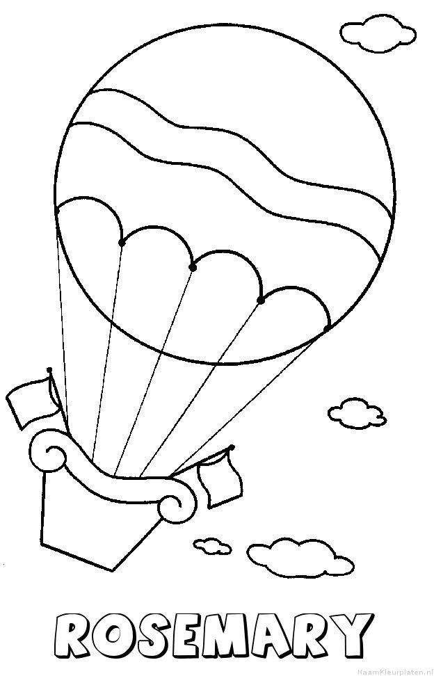 Rosemary luchtballon kleurplaat