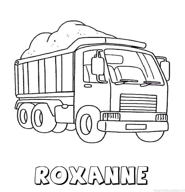 Roxanne vrachtwagen kleurplaat