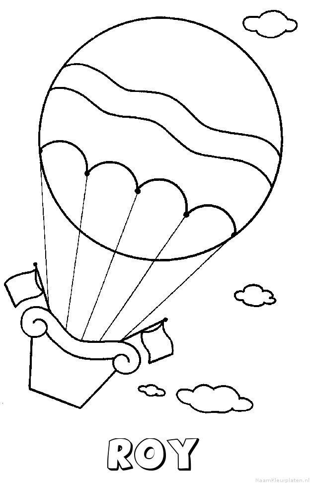 Roy luchtballon kleurplaat