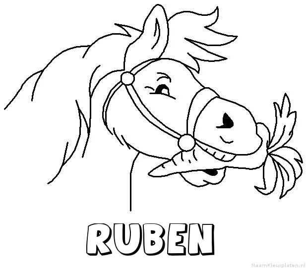 Ruben paard van sinterklaas kleurplaat