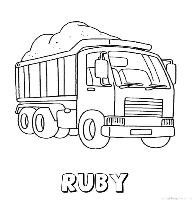Ruby vrachtwagen kleurplaat