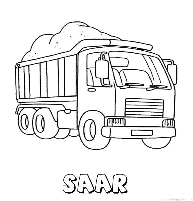 Saar vrachtwagen kleurplaat