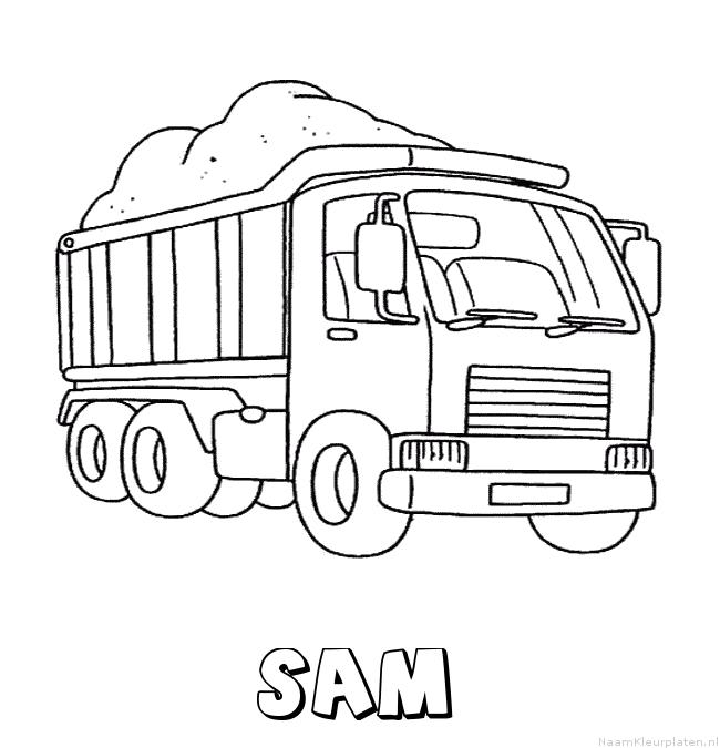 Sam vrachtwagen kleurplaat