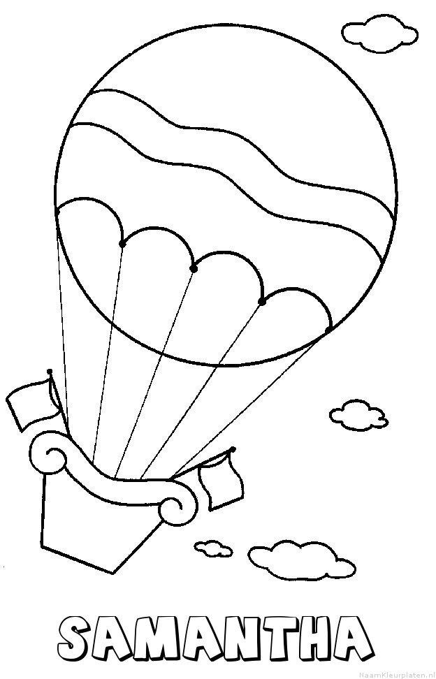 Samantha luchtballon kleurplaat