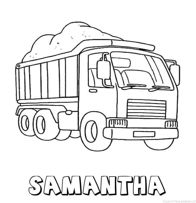 Samantha vrachtwagen kleurplaat