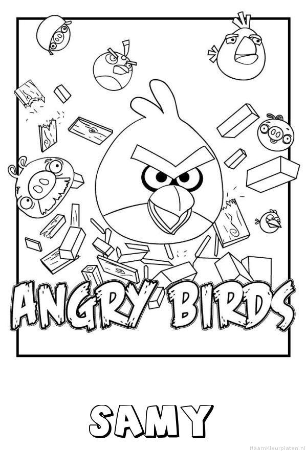 Samy angry birds kleurplaat