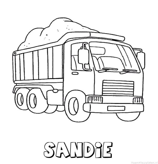 Sandie vrachtwagen kleurplaat