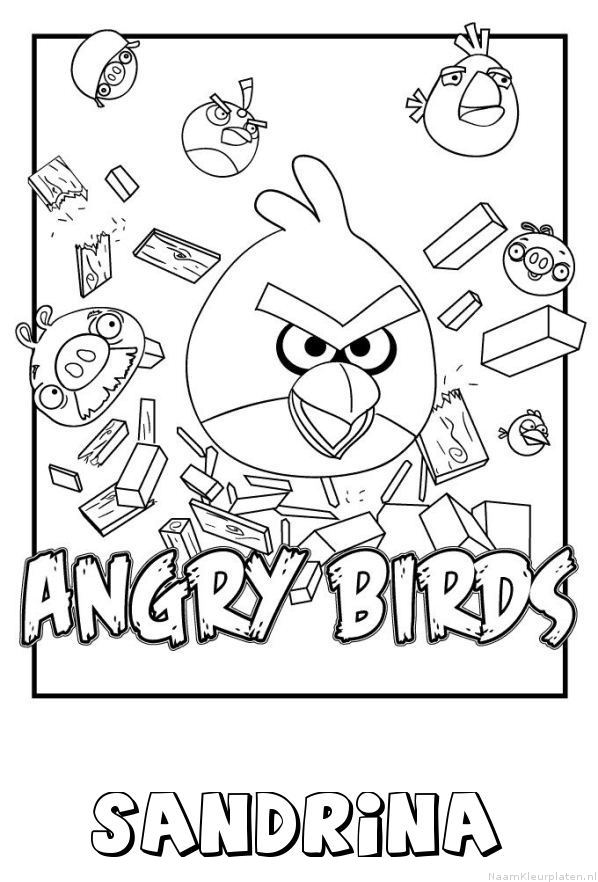 Sandrina angry birds kleurplaat