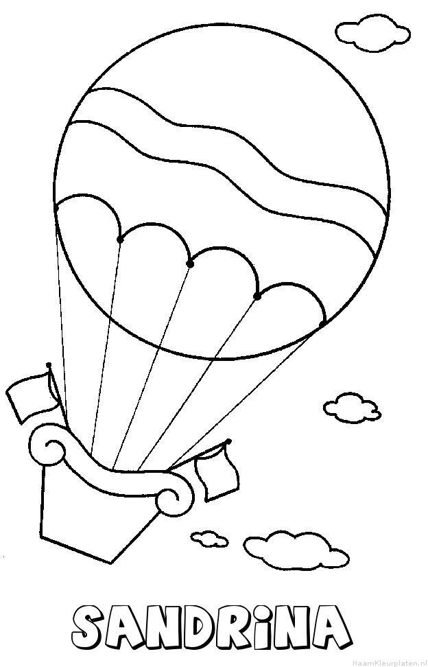 Sandrina luchtballon kleurplaat