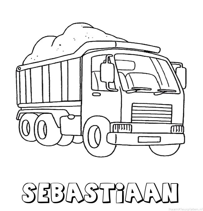 Sebastiaan vrachtwagen kleurplaat