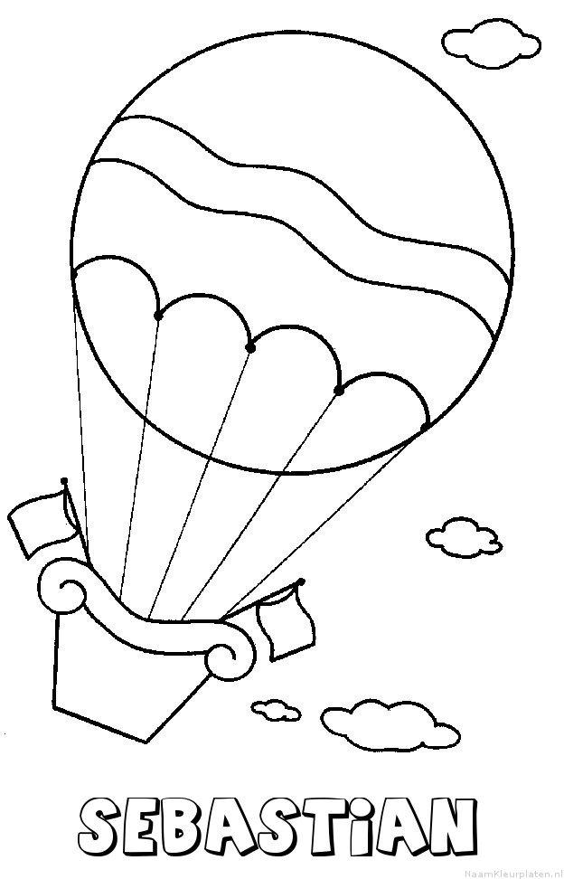 Sebastian luchtballon kleurplaat